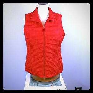 Chicos ref quilted vest size 1